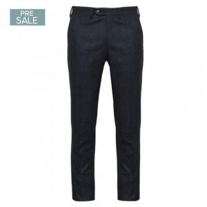 Germano Trousers Check Dark Blue