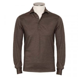 Gran Sasso Polo Long Sleeve Brown