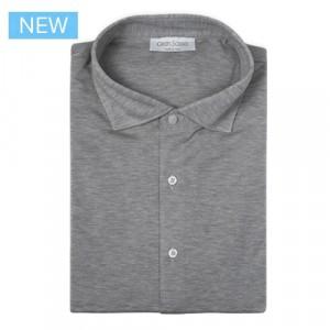 Gran Sasso Shirt Jersey Pique Grey Melange