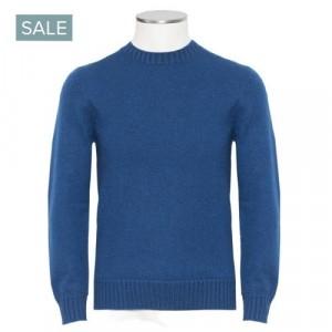Gran Sasso Cashmere Crewneck Blue