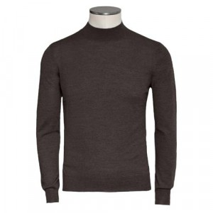 Gran Sasso Turtle Neck Super Tasmania Brown