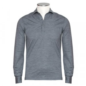 Gran Sasso Polo Long Sleeve Grey