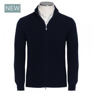 Gran Sasso Felted Cashmere Blue Cardigan