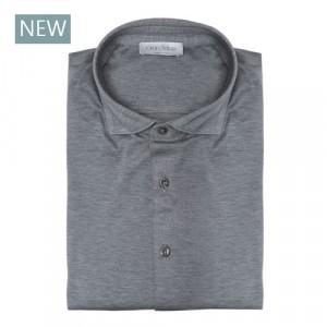 Gran Sasso Shirt Jersey Grey Melange