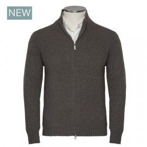 Gran Sasso Felted Cashmere Brown Cardigan