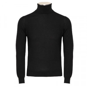 Gran Sasso Roll-Neck Extrafine Merinos Black