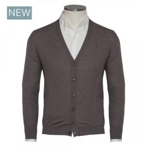 Gran Sasso Cardigan Wool Brown