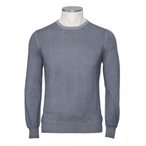 Gran Sasso Cashmere Crewneck Grey Blue