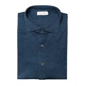 Gran Sasso Jersey Pique Blue Melange