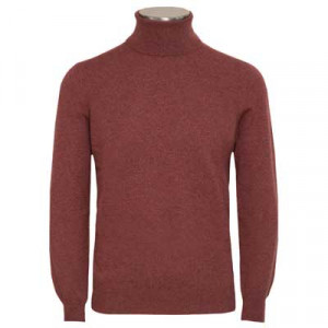 Gran Sasso Roll-Neck Coral Red