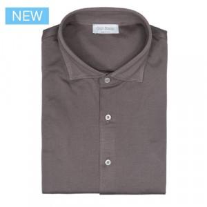 Gran Sasso Shirt Jersey Pique Taupe
