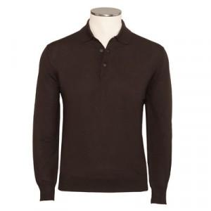 Gran Sasso Polo Extra Fine Merinos Brown