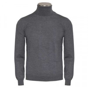 Gran Sasso Roll-Neck Extrafine Merinos Grey