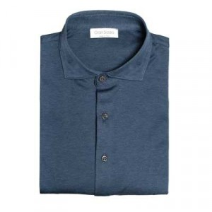 Gran Sasso Jersey Piquet Blue-Grey