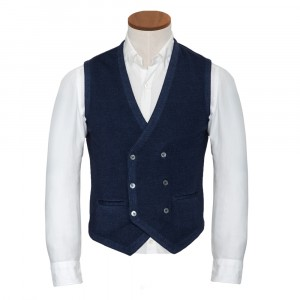 Gran Sasso Vest Double Brested Blue
