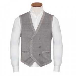Gran Sasso Vest Double Brested Grey
