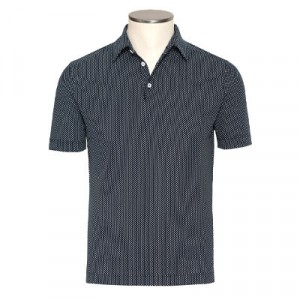 Zanone Ice Cotton Polka Polo Blue