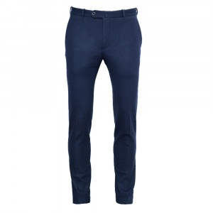 Incotex Jersey Trousers Navy