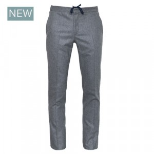 Incotex Flannel Drawstring Trousers Grey