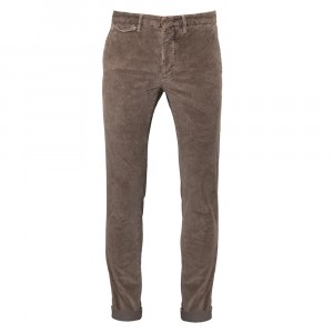 Incotex Slacks Ribcord Brown