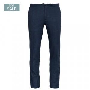 Incotex Trouser Drawstring Pied-a-Poule Blue