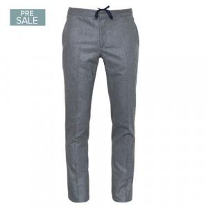 Incotex Flannel Drawstring Trousers Grey