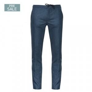 Incotex Trouser Drawstring Mid-Blue