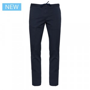 Incotex Drawstring Cotton Trousers Blue