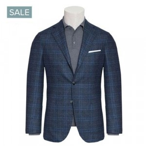 Barba Napoli Jacket Blue Overcheck