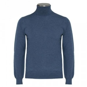 Gran Sasso Roll-Neck Extrafine Merinos Light Blue