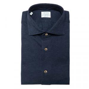 Mazzarelli Shirt Jersey Pique CashCo Navy