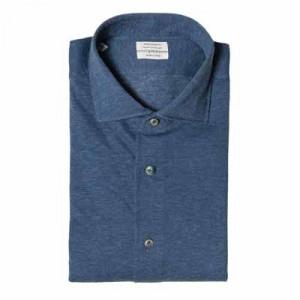 Mazzarelli Shirt Jersey Pique CashCo Denim