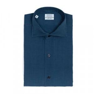 Mazzarelli Shirt Check Blue