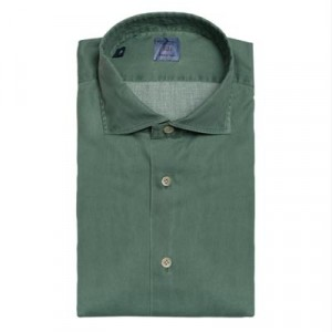 Mazzarelli Shirt Pique Washed Green