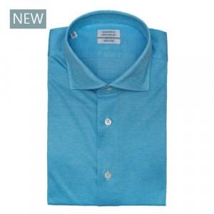 Mazzarelli Shirt Jersey Pique Aqua