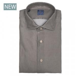 Mazzarelli Shirt Jersey Piquet Taupe