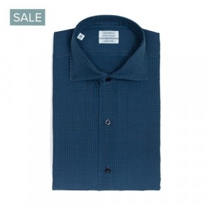 Mazzarelli Shirt Check Blue