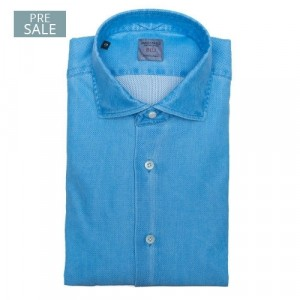 Mazzarelli Shirt Jersey Piquet Aqua