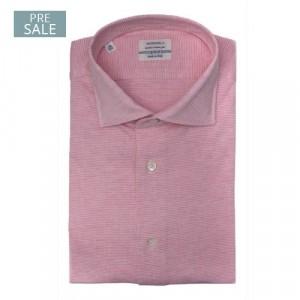 Mazzarelli Shirt Jersey Pique Pink