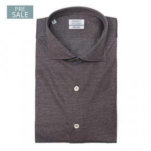 Mazzarelli Shirt Brown Jersey