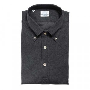 "Mazzarelli Polo ""Camicia"" Jersey-Piquet Grey"