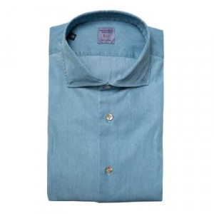 Mazzarelli Denim Shirt Light Blue