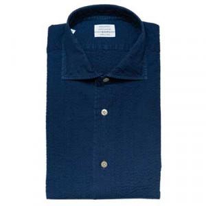 Mazzarelli Seersucker Shirt Denim