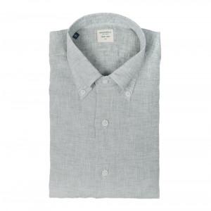 Mazzarelli Shirt Linen Green