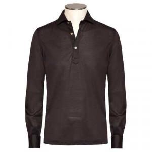 Mazzarelli Polo Camicia Pique Brown