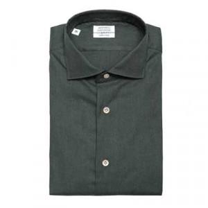 Mazzarelli Shirt Twill Forest-Green