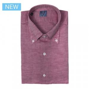 Mazzarelli Shirt Linen Mauve