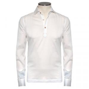 Mazzarelli Polo Camicia Pique White