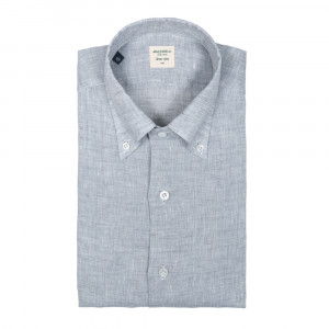 Mazzarelli Shirt Linen Grey