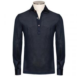 Mazzarelli Polo Camicia Pique Navy